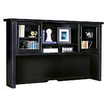 "Tribeca Loft Black Glass Door Hutch - 68"", MRT-TL682"