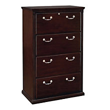 Huntington Cherry Four Drawer Lateral File, MRN-HCR454