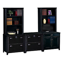 Tribeca Loft Black Complete Wall Storage Set, OFG-SC2007