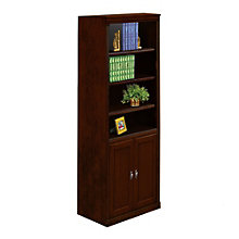 "Huntington Club Six Shelf Bookcase with Doors - 72"" H, MRT-HCR3072D"