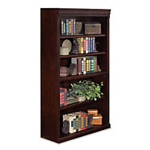 "Huntington Club Five Shelf Traditional Bookcase - 60"" H, MRN-HCR3660"