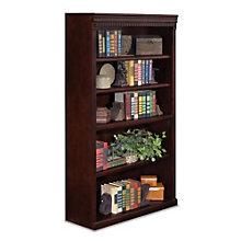 "Huntington Club Five Shelf Traditional Bookcase - 60"" H, MRN-HCR3660"