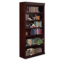"Huntington Club Six Shelf Traditional Bookcase - 72"" H, MRT-HCR3672"