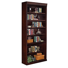 "Huntington Club Seven Shelf Traditional Bookcase - 84"" H, MRN-HCR3684"