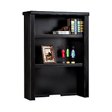 "Tribeca Loft Black Three Shelf Hutch - 30"", MRT-TL310"
