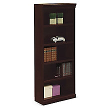 "Five Shelf Classic Bookcase - 72""H, 8802527"