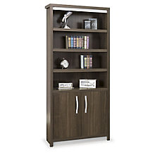 "Six Shelf Bookcase with Doors - 78""H , 8804482"
