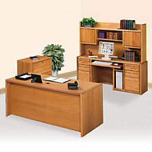 Executive Office Set with Hutch and File, MRN-10751