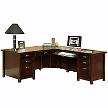 Tribeca Loft Cherry Right Return L-Desk, OFG-LD1178