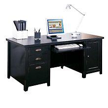 tribeca loft black computer desk mrt tl685 black home office desk