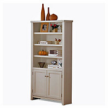 Tribeca Loft White Bookcase with Lower Doors, MRN-IMTLW3670D