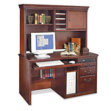 Huntington Cherry Traditional Desk with Hutch, OFG-MS2013