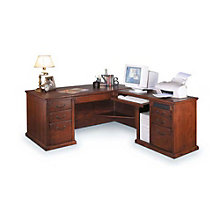 Burnished Oak Right L-Desk, OFG-LD1039