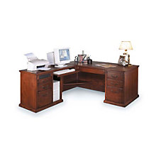 Burnished Oak Left L-Desk, OFG-LD1038