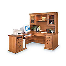 Wheat Finish Left L-Desk and Hutch, OFG-LD1054