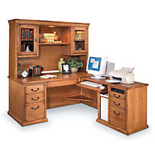 Wheat Oak Right L-Desk and Hutch, OFG-LD1040