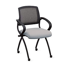 Flexible Back Nesting Chair in Fabric, MAO-10967