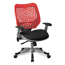 Ventilated Mesh and Plastic Ergonomic Task Chair, OFF-C655R