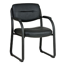 Black Vinyl Sled Base Guest Chair, OFF-FL1055