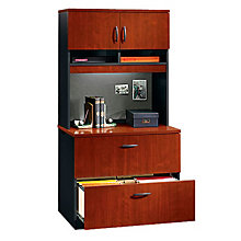 Via Two Drawer Lateral File with Hutch, OFG-LF1032
