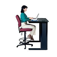 Ergonomic Armless Drafting Chair, OFM-118-2-DK