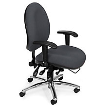 Heavy Duty 24 Hour Fabric Ergonomic Task Chair, OFM-247
