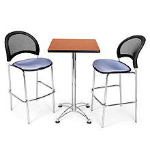 Cafe Table with Two Moon Breakroom Stools, OFG-TS1013