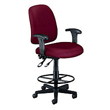 Ergonomic Stool with Arms, OFM-118-2-AA-DK