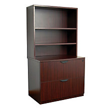 Two Drawer Lateral File With Two Shelf Hutch, OFG-LF1038