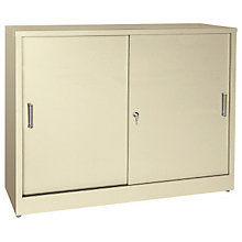 Desk Height Sliding Door Storage Cabinet, SAN-S361829