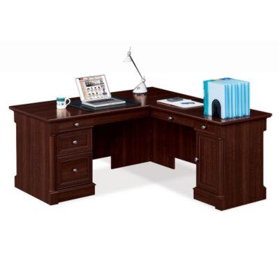 Sauder Palladia Select Cherry Laminate L Desk With Right