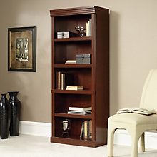 "Heritage Hill Five Shelf Open Bookcase - 71"" H, SAU-2795"