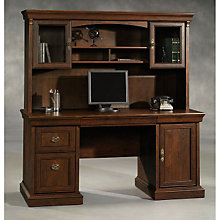 Arbor Gate Computer Credenza with Hutch, OFG-CH1050