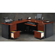 Via Bow Front L-Desk, OFG-LD1103