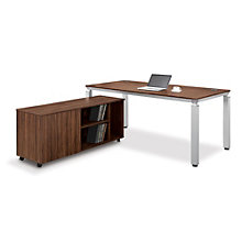 Modern Table Desk and Mobile Credenza, OFG-DS0058