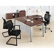 Four Piece L-Desk Office Set, 8802932
