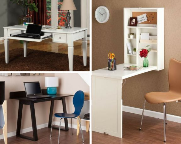 small desks for tiny spaces