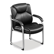 Omega Oversized Guest Chair in Vinyl, TRU-42
