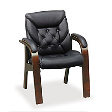Traditional Guest Chair in Faux Leather, TRU-10179