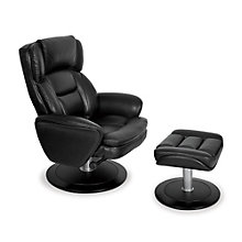 Recliner and Ottoman in Leather, TRU-10271