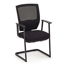 Set of Two Canteliver Guest Chairs in Mesh, MAO-10201