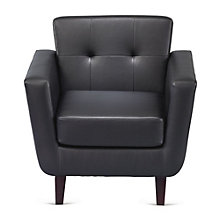 Button Tufted Club Chair in Faux Leather, 8802556