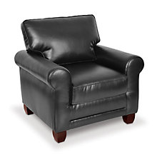 Reception Arm Chair in Faux Leather or Fabric, TRU-10353