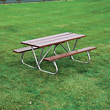 Recycled Plastic Picnic Table - 8'W, ULT-158-BRN8