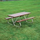 Recycled Plastic Picnic Table - 6'W, ULT-158-BRN6
