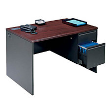 "Single Pedestal Desk - 48"" x 30"", UNE-38251"