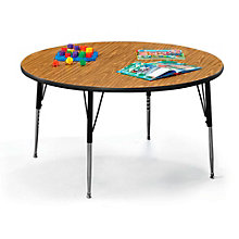 "48"" Diameter Round Adjustable Height Child Size Table, VIR-10246"