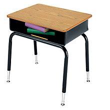 "Student Desk Open Front Metal - 24""W, 8802029"