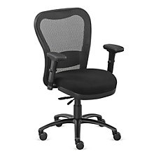 24/7 Big and Tall Mesh Chair with Fabric Seat and Memory Foam, 8801902