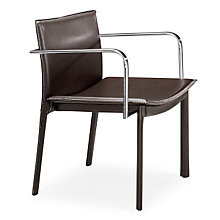 Espresso Guest Chair with Chrome Arms, ZUO-404143